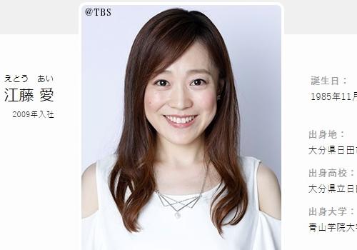 TBSアナウンサー江藤愛