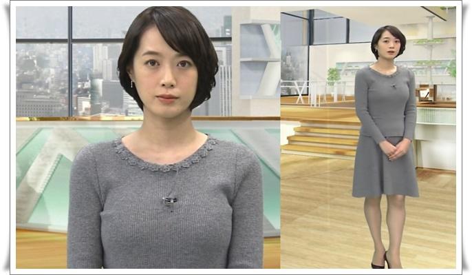 ピチピチニットが似合うテレビ朝日・八木麻紗子アナ