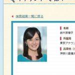 NHKアナウンサー・鈴木奈穂子