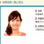 NHKアナウンサー・牛田茉友