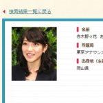 NHKアナウンサー・赤木野々花