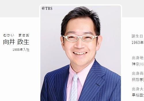 TBSアナウンサー・向井政生