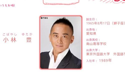 TBSアナウンサー・小林豊