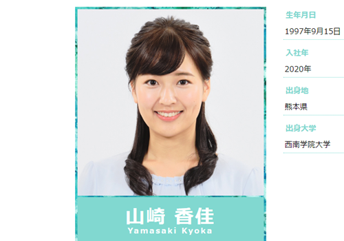 MBSアナウンサー・山崎香佳