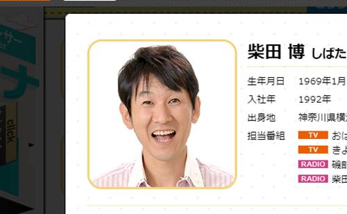 ABC朝日放送アナウンサー・柴田博