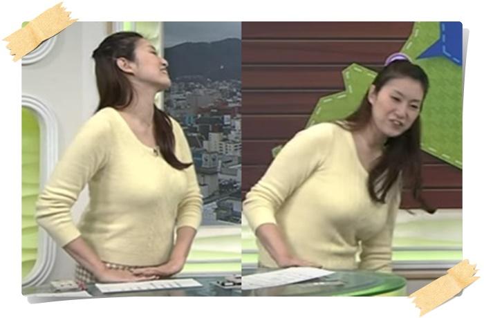 元NHK札幌・千葉雅美アナの横からバスト