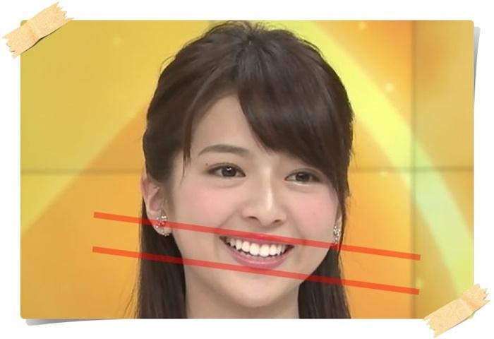 口が斜めに曲がっている福田成美