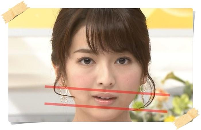 口が斜めに曲がっている福田成美を正面から