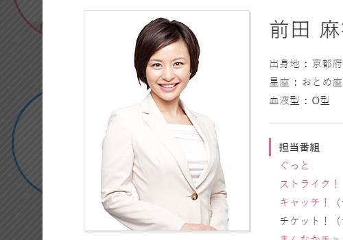 中京テレビ・前田麻衣子アナウンサー