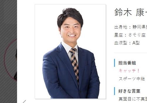 中京テレビ・鈴木康一郎アナウンサー