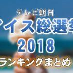 テレビ朝日「国民1万人がガチで投票!アイス総選挙2018」ランキング結果一覧