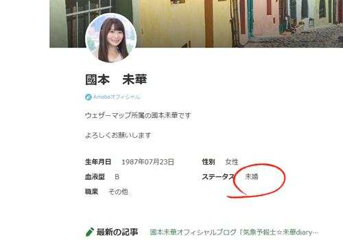 國本未華のAbemaブログプロフィール