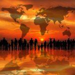 夕日・世界・大陸のイメージ