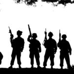 軍隊や戦争などのイメージ